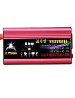 Недорогие -высокое качество автомобильный инвертор 12vand24v до 220v 1000w многофункциональный автомобильное зарядное устройство / инвертор / конвертер с USB-разъемом