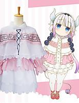 Недорогие -Вдохновлен Miss Kobayashi's Dragon Maid Косплей Аниме Косплэй костюмы Японский Косплей Костюмы Блузка / Юбки / Воротник-шаль Назначение Жен.