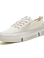Недорогие -Муж. Комфортная обувь Сетка / Полиуретан Осень На каждый день Кеды Нескользкий Белый / Бежевый / Серый