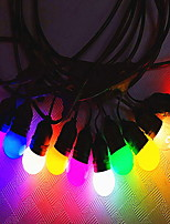Недорогие -10 м Гирлянды 10 светодиоды Разные цвета Декоративная 220-240 V 1 комплект