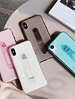 Недорогие -чехол для apple iphone xs max / iphone 8 plus пылезащитный / держатель кольца / прозрачная задняя крышка с цветным градиентом силикагеля для iphone 7/7 plus / 8/6/6 plus / xr / x / xs