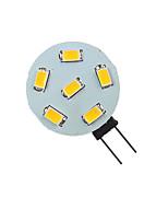 Недорогие -1шт 1.5 W Двухштырьковые LED лампы 200 lm G4 6 Светодиодные бусины SMD 5730 9-30 V