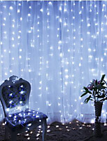 cheap -2pcs 3*3 m  300 LEDs 31V  low Voltage  Curtain String Lights Warm White White 8-Mode  New Design Wedding Christmas Wedding Decoration No Electric Shock Safer Garden Courtyard Decoration Lamp