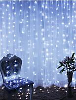 cheap -2pcs 3*3 m  300 LEDs 31V  low Voltage  Curtain String Lights Warm White White 8-Mode  New Design Wedding Christmas Wedding Decoration No Electric Shock Safer Garden Courtyard Decoration Lamp