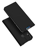 Недорогие -Кейс для Назначение Huawei Бумажник для карт / со стендом / Флип Чехол Однотонный Кожа PU / ТПУ