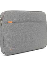 Недорогие -13.3 14 15.6 водонепроницаемый нейлон сплошной цвет ударопрочный чехол для ноутбука рукава встряхиваемый чехол для поверхности / MacBook / HP / Dell / Samsung / Sony и т.д. серый