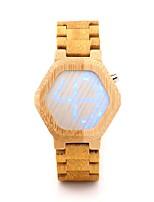 Недорогие -Для пары Нарядные часы Японский Японский кварц Стильные Дерево Хаки 30 m Повседневные часы деревянный Аналоговый Мода - Хаки Два года Срок службы батареи
