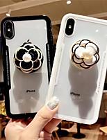 Недорогие -чехол для яблока iphone xs max / iphone 8 plus пылезащитный / с подставкой и задней крышкой для цветов tpu для iphone 7/7 plus / 8/6/6 plus / xr / x / xs
