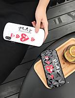 Недорогие -Кейс для Назначение Apple iPhone XS / iPhone XR / iPhone XS Max Ультратонкий / С узором / Игровой случай Кейс на заднюю панель Слова / выражения / С сердцем ТПУ