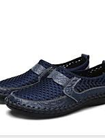 Недорогие -Муж. Комфортная обувь Полиуретан Лето Мокасины и Свитер Дышащий Черный / Военно-зеленный / Синий