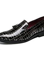 Недорогие -Муж. Официальная обувь Лакированная кожа Лето Мокасины и Свитер Золотой / Серебряный / Красный