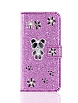 cheap -Case For Samsung Galaxy S20 Ultra /S20 Plus/S10 Plus Wallet / Card Holder / with Stand Glitter Shine Panda PU Leather Case For Samsung S9 Plus /S8 Plus /S7 Edge/Note 10 Pro /A51/A71
