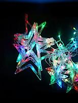 Недорогие -Brelong 2.5 м звезда занавес свет шнура светодиодный свет 8 функция 12 звезда свадебный венок день рождения