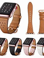 Недорогие -воздухопроницаемые отверстия ремешок из натуральной кожи для ремешка для часов apple 44мм / 40мм / 38мм / 42мм для ремешка iwatch серии 1 2 3 4