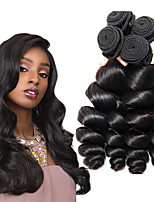 Недорогие -3 Связки Перуанские волосы Свободные волны Не подвергавшиеся окрашиванию 100% Remy Hair Weave Bundles Человека ткет Волосы Удлинитель Пучок волос 8-28 дюймовый Нейтральный Ткет человеческих волос