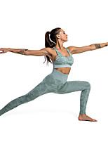 Недорогие -Жен. С высокой талией Штаны для йоги камуфляж Хлопок Эластан Бег Фитнес Тренировка в тренажерном зале Велоспорт Колготки Спортивная одежда / Слабоэластичная / Обтягивающие / Дышащий / Влагоотводящие