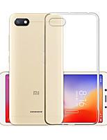 Недорогие -Кейс для Назначение Xiaomi Redmi 6A Защита от пыли / Ультратонкий / Матовое Кейс на заднюю панель Однотонный ТПУ