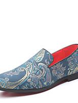 Недорогие -Муж. Комфортная обувь Искусственная кожа Весна лето / Наступила зима Деловые / На каждый день Мокасины и Свитер Дышащий Черный / Синий