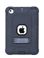 Недорогие -Кейс для Назначение Apple iPad Mini 3/2/1 Защита от удара / со стендом Кейс на заднюю панель Однотонный ПК / силикагель