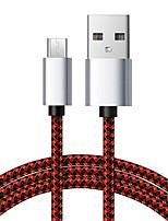 Недорогие -Micro USB кабель для передачи данных 6,5 футов / 2 м рыбная сеть плетеный 3a кабель для зарядки для телефонов