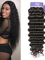 Недорогие -3 Связки Индийские волосы Глубокий курчавый Не подвергавшиеся окрашиванию 100% Remy Hair Weave Bundles Человека ткет Волосы Удлинитель Пучок волос 8-28 дюймовый Нейтральный Ткет человеческих волос