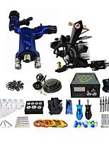 Недорогие -Профессиональный полный набор татуировки 1 ротор пулемет 1 медная катушка пулемет 50 игл питания