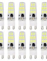 Недорогие -10 шт. 3 W Двухштырьковые LED лампы 300 lm G9 T 16 Светодиодные бусины SMD 5733 Новый дизайн Тёплый белый Белый 220-240 V