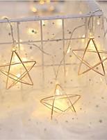Недорогие -1.5 м 10 светодиодов 3d провод звезды звезда гибкая строка светло-железный материал батареи фонари для дома свадебный рождественский декор (приходят без батареи)