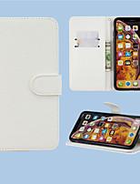 Недорогие -Кейс для Назначение SSamsung Galaxy A6 (2018) / A6+ (2018) / Galaxy A7(2018) Кошелек / Бумажник для карт / со стендом Чехол Однотонный Кожа PU