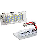 Недорогие -2 шт. / Компл. Светодиодные без ошибок номерного знака света для BMW E53 X5 E83 X3