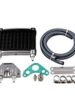Недорогие -Мотоцикл алюминиевый мотор масляного радиатора комплект радиатора универсальный для 50cc 110cc 125cc 140cc 150cc ATV Pit Pro Trail грязи