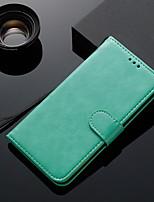 Недорогие -Кейс для Назначение Huawei Бумажник для карт / Флип Чехол Однотонный ТПУ