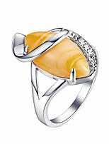 Недорогие -старинные золотые слезы колец дерева для женщин стиль смолы кольцо свадьба обручальное роскошь мода ювелирные изделия партии