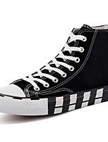 Недорогие -Муж. Комфортная обувь Полотно Весна лето / Наступила зима Кеды Черный / Белый