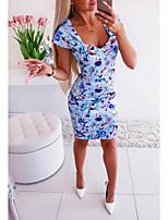 Недорогие -Жен. Классический Оболочка Платье - Камуфляж, С принтом Выше колена