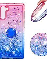 Недорогие -Кейс для Назначение SSamsung Galaxy Note 9 / Galaxy Note 10 / Galaxy Note 10 Plus Защита от удара / Стразы / Движущаяся жидкость Кейс на заднюю панель Сияние и блеск / Градиент цвета ТПУ