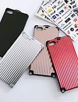 Недорогие -чехол для яблока iphone xs max / iphone 8 plus пылезащитный / зеркало / рисунок с задней обложкой мультяшный тпу для iphone 7/7 plus / 8/6/6 plus / xr / x / xs / 5 / se