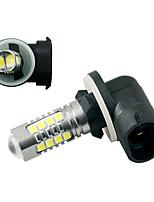 Недорогие -2pcs +881 Автомобиль Лампы 80 W SMD 3030 Светодиодная лампа Противотуманные фары Назначение Универсальный Все года