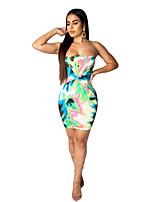 Недорогие -Жен. Классический Изысканный Оболочка Платье - Узоры тай-дай До колена