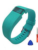 Недорогие -Ремешок для часов для Fitbit Charge HR Fitbit Спортивный ремешок / Инструменты сделай-сам силиконовый Повязка на запястье