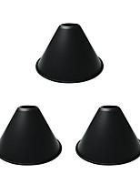 Недорогие -OYLYW 3шт 18 cm E26 / E27 Своими руками / Аксессуары для ламп Железо Абажур черный