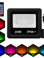 Недорогие -1шт 20 W LED прожекторы Водонепроницаемый / Дистанционно управляемый / Диммируемая RGB 85-265 V двор / Сад 36 Светодиодные бусины