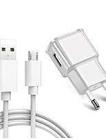 Недорогие -портативное зарядное устройство / домашнее зарядное устройство / быстрое зарядное устройство usb зарядное устройство комплект зарядного устройства eu plug 1 порт usb 2 a 100 ~ 240 В для s6 / s6 edge /