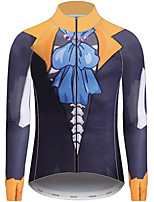 Недорогие -21Grams One Piece Муж. Длинный рукав Велокофты - Серый Велоспорт Джерси Верхняя часть Устойчивость к УФ Дышащий Влагоотводящие Виды спорта 100% полиэстер Горные велосипеды Одежда / Слабоэластичная