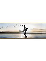 Недорогие -С принтом - Люди Путешествия Алюминиевый сплав Иллюстрации Предметы искусства