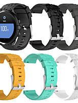 Недорогие -Ремешок для часов для TomTom Runner 2 / SUUNTO Spartan Sport Suunto Спортивный ремешок силиконовый Повязка на запястье