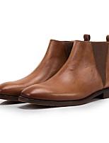 Недорогие -Муж. Армейские ботинки Кожа Наступила зима Ботинки Коричневый / Кофейный