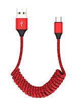 Недорогие -Type-C Кабель 1.2m (4FT) Выдвижной / Быстрая зарядка Нейлон Адаптер USB-кабеля Назначение Huawei