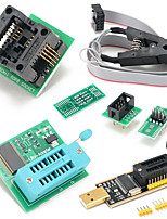 Недорогие -eeprom bios usb программатор ch341a + клип soic8 + адаптер 1.8v + адаптер soic8