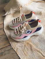 Недорогие -Мальчики Удобная обувь Flyknit Спортивная обувь Маленькие дети (4-7 лет) Оранжевый / Зеленый / Розовый Лето